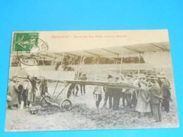 54 ) Arracourt - Atterrissage D'un Biplan Militaire Allemand  : Année 1913 : EDIT : Bastien - France