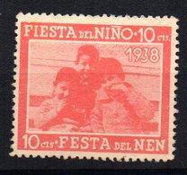 Viñeta Fiesta Del Niño 1938 - Viñetas De La Guerra Civil