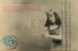 "Bergeret - 1904 - "" L'Origine Du Timbre Poste "" - 15c - Stamp Stamps - Langage Timbres - Bergeret"