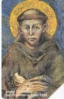 TARJETA DE VATICANO DE 5000 LIRAS DE ASSISI-CIMABUE - SAN FRANCESCO 1182-1226 - Vatican