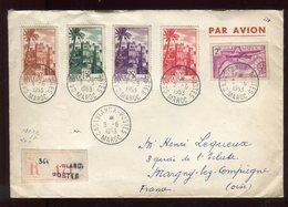 Maroc - Enveloppe En Recommandé De Casablanca En 1953 Pour Margny Lez Compiègne - Prix Fixe - Réf F56 - Cartas