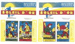 2 Buvards Biscottes Soleil D'Or 15x17 Cm Parfait état - Food