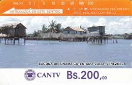 TARJETA DE VENEZUELA DE Bs.200 DE LA LAGUNA DE SINAMAICA  (DETRAS COLOR MARRON CON INSTRUCCIONES) - Venezuela