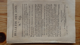 Bulletin Des Lois 69  Frimaire An XIV 1806   14 Pages - Decrees & Laws