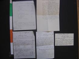 Debut XX Lot De LETTRES Manuscrits 1928 Probleme Heritage HAUTE SAONE - Manuscrits