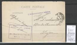 France - FM Cachet Hopital Auxiliaire N°29 - Bordeaux - Gironde -1914 - Marcophilie (Lettres)