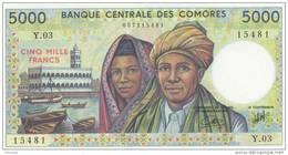 COMOROS P. 12b 5000 F 2005 UNC - Comore
