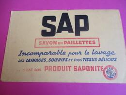 2 Buvards/Savon En Paillettes/Sap/Saplé Liquide/Produit SAPONITE /Vers1945-1960   BUV354 - Wash & Clean