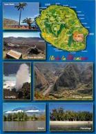 La Réunion - Multivues - Carte Géographique - Voir Scans Recto-Verso - La Réunion