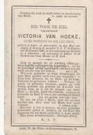 Doodsprentje Victoria Van Hoeke °1824 Asper †1890 O.L.V. Sint Pieters Gent    (B92) - Obituary Notices