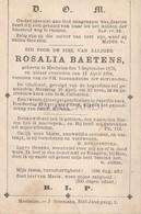 Doodsprentje Rosalia Baetens °1879 Mechelen †1894 (B93) - Décès