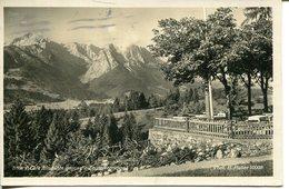 006201  Blick V. Café Almhütte Gegen Die Zugspitzgruppe  1929 - Garmisch-Partenkirchen
