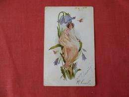 Fantasy Lady In Flower      Ref 3171 - Cartes Postales