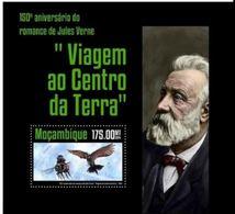 Mozambique  2014 Jules VERNE Voyage Au Centre De La Terre  MNH - Ecrivains