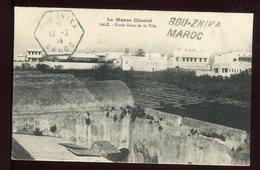 Maroc - Griffe + Cachet En Bleu De Bou - Znika Sur Carte Postale En 1914 Pour La France - Prix Fixe - Réf F64 - Marokko (1891-1956)