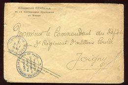 Maroc - Enveloppe En Franchise De La Résidence Pour Joigny En 1915 - Prix Fixe - Réf F65 - Morocco (1891-1956)
