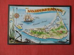 Map Of Nantucket  Mass.    Ref 3171 - Nantucket