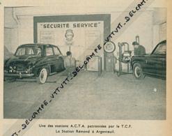 1960 : Document, Automobile, Une Station De Contrôle A.C.T.A, La Station Rémond à Argenteuil, - Old Paper
