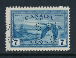 CANADA, 1946 7c Air Perfed OHMS Very Fine MM - 1937-1952 Regering Van George VI