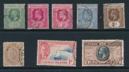 CAYMAN, From1907 8 FU/VFU Stamps, Cat £10 - Kaaiman Eilanden