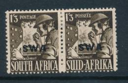 SOUTH WEST AFRICA, 1941 1s3d Se-tenant Pair Very Fine MM, Cat £13 - South West Africa (1923-1990)