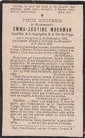 Doodsprentje Emma-Justine Moerman °1833 Avelgem †1896 Sint-Gillis-Obbrussel Saint-Gilles-lez-Bruxelles  (B98) - Obituary Notices