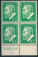 1954, Miller Postfrischer Viererblock Mit HAN - Neufs