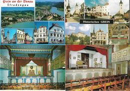 1651t: 6 AKs 4360 Grein, Strudengau, Stadttheater, Etc, Ungelaufen - Grein