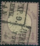 1872: Michel-Nr. 1, 1/4 Groschen Kleiner Brustschild (120,-) - Gebraucht