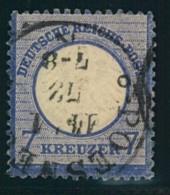 1872: Michel-Nr. 10, 7 Kreuzer Kleiner Brustschild (120,-) - Gebraucht