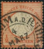 1872: Michel-Nr. 14, 1/2 Groschen Kleiner Brustschild, Teil HE-Stempel - Gebraucht
