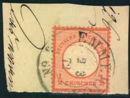 1872: Michel-Nr. 14, 1/2 Groschen Kleiner Brustschild, Briefstück EMMERICH - Gebraucht
