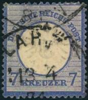 1872: Michel-Nr. 26, 7 Kreuzer Großer Brustschild (90,,-) - Gebraucht