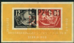 1950, Block 7, DEBRIA-Block Mit 3-farbigem Sonderstempel - DDR