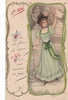 SUPERBE  CARTE ,,,,1 Er  AVRIL ,,,,   ART  NOUVEAU  1904 ,,,,,TBE,,,,, Rare - 1er Avril - Poisson D'avril