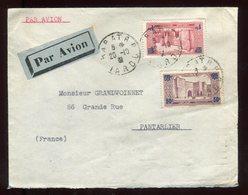 Maroc - Enveloppe Par Avion De Rabat Pour Pontarlier En 1931 Via Marseille - Prix Fixe - Réf F74 - Marruecos (1891-1956)
