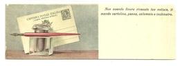 """2750 """"PENNINO,CALAMAIO E CARTOLINA - NON AVENDO FINORA RICEVUTO...... """" CARTOLINA POST. ORIG. NON SPED. - Fantasia"""