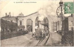 Dépt 44 - NANTES - La Gare D'Orléans - (train, Locomotive P.C 196) - Phototypie VASSELLIER - Nantes, N° 72 - Nantes