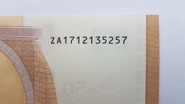 50 Euro 2017 Belgien ZA1712135257, Printer Z001, Kassenfrisch,  UNC - FDS - Kassenfrisch - EURO