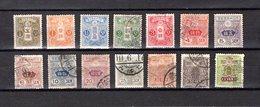 Japón   1914-19  .-   Y&T  Nº    128/135-137/142 - Japon