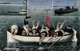 Cp Blasensuchen, Matrosen Bergen Torpedo, Grundgänger, Torpedo Verloren, Totenwache, I. WK - Schiffe