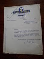 Lettre Ancienne. Grenoble. Cafés Piollet. 1935 - Francia