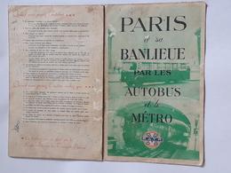Plan Autobus Et Métro De Paris France - Europe