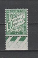 FRANCE / 1893 - 1935 / Y&T Taxe N° 38 ** : Duval 60c Vert BdF  - Gomme D'origine Intacte - Taxes