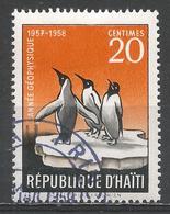 Haiti 1958. Scott #425 (U) Emperor Penguins, International Geophysical Year * - Haïti