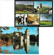 1651b: 2 AKs 5081 Anif, Wasserschloß, Gelaufen - Salzburg Stadt
