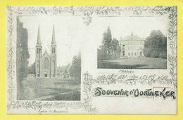 * Oostakker - Oostacker (Gent - Gand) *  (L. Lagaert) Souvenir D'Oostacker, Chateau, Kasteel, église Kerk Church - Gent