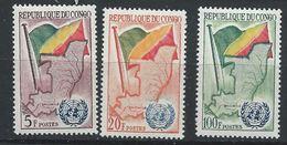 Congo-Brazzaville YT 139-141 XX /MNH Drapeau Flag - Congo - Brazzaville