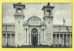 * Brussel - Bruxelles - Brussels * Exposition, Expo 1910, Entrée Des Colonies Françaises, Façade, Rare, Old - Wereldtentoonstellingen