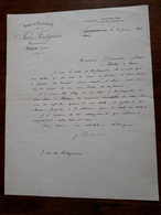 Lettre Ancienne.  Jules Foulquier Autignac Proprietaire  Algérie. Oran. Ferme De Belleseaux . 1902 - Factures & Documents Commerciaux